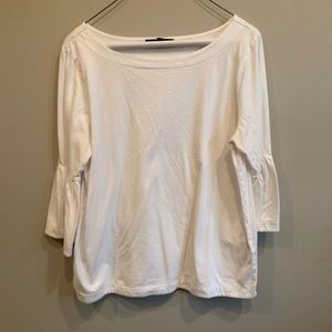 Banana republic white bell sleeved shirt